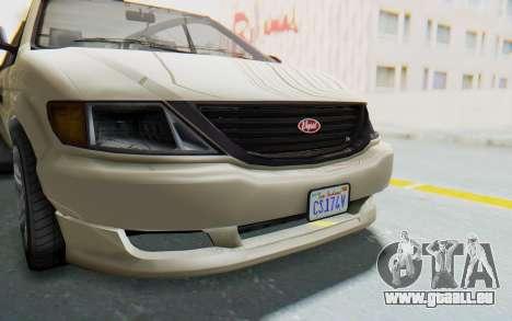 GTA 5 Vapid Minivan IVF pour GTA San Andreas vue intérieure