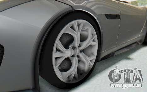 Jaguar F-Type Project 7 pour GTA San Andreas vue arrière