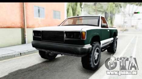 Yosemite Truck für GTA San Andreas zurück linke Ansicht