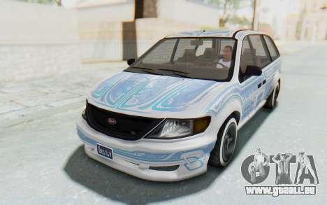 GTA 5 Vapid Minivan Custom pour GTA San Andreas vue de côté