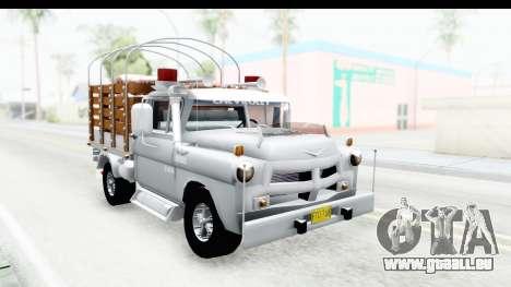 Chevrolet 3100 Diesel v2 pour GTA San Andreas vue de droite