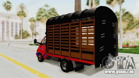 GAZelle 33021 Stylo Colombia pour GTA San Andreas laissé vue