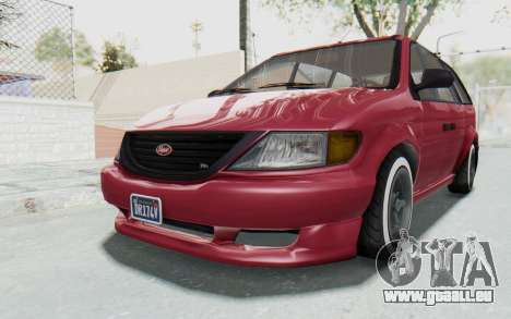 GTA 5 Vapid Minivan Custom without Hydro für GTA San Andreas rechten Ansicht