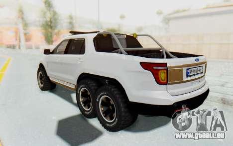 Ford Explorer Pickup pour GTA San Andreas sur la vue arrière gauche