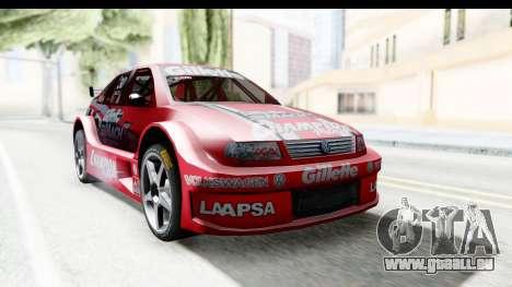 Volkswagen Polo TC2000 Temporada 2005(06) pour GTA San Andreas sur la vue arrière gauche