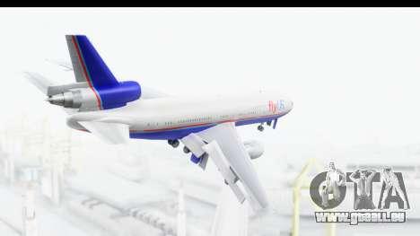 DC-10 Fly Us für GTA San Andreas rechten Ansicht