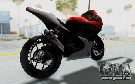 Kawasaki Ninja 250R Superbike für GTA San Andreas zurück linke Ansicht