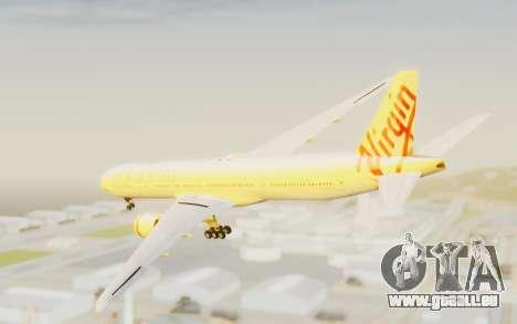 Boeing 777-300ER Virgin Australia v2 pour GTA San Andreas laissé vue