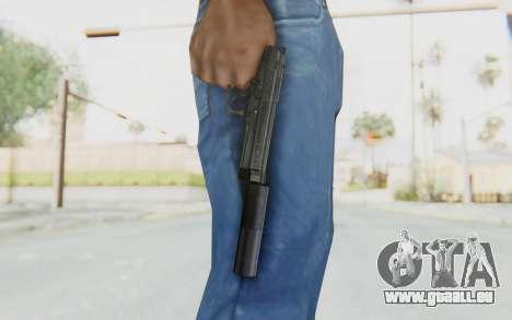 Tariq Iraqi Pistol Back v1 Black Silenced pour GTA San Andreas troisième écran