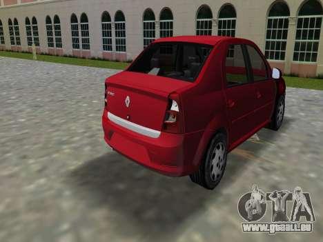 Renault Logan für GTA Vice City linke Ansicht