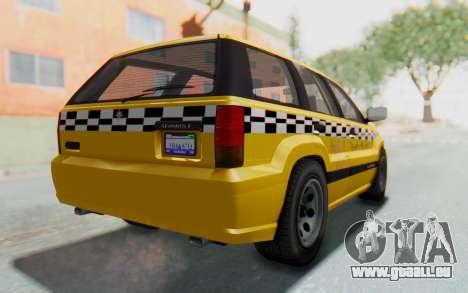 Canis Seminole Taxi pour GTA San Andreas laissé vue