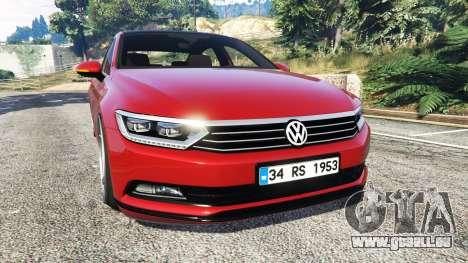Volkswagen Passat Highline B8 2016 Stanced für GTA 5