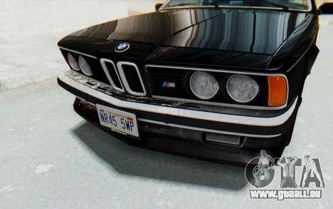 BMW M635 CSi (E24) 1984 IVF PJ3 pour GTA San Andreas vue de côté