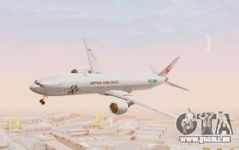 Boeing 777-300ER Japan Airlines v1 pour GTA San Andreas sur la vue arrière gauche