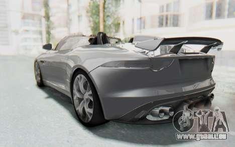 Jaguar F-Type Project 7 pour GTA San Andreas vue de droite
