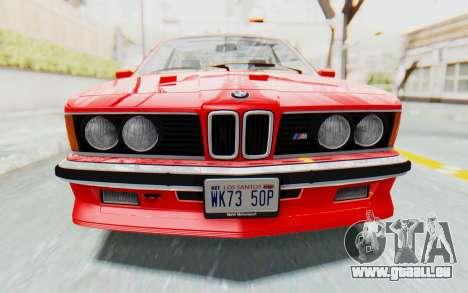 BMW M635 CSi (E24) 1984 IVF PJ2 pour GTA San Andreas vue intérieure