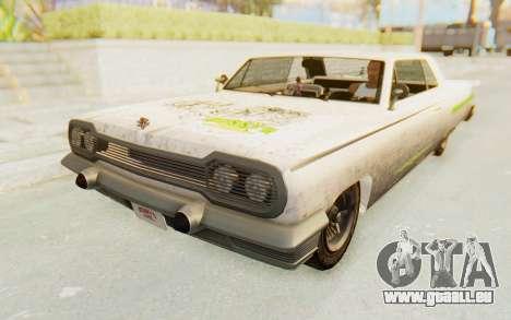 GTA 5 Declasse Voodoo PJ SA Lights pour GTA San Andreas vue de côté