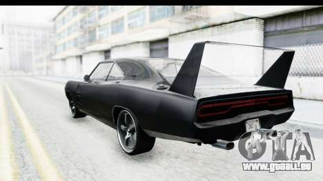 Dodge Charger Daytona F&F pour GTA San Andreas sur la vue arrière gauche
