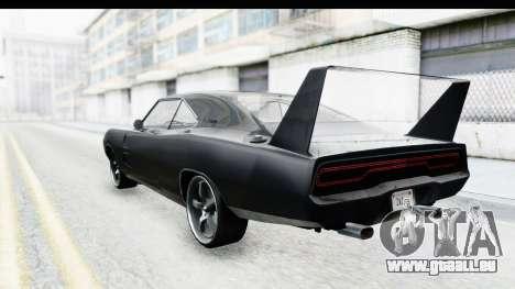 Dodge Charger Daytona F&F für GTA San Andreas zurück linke Ansicht