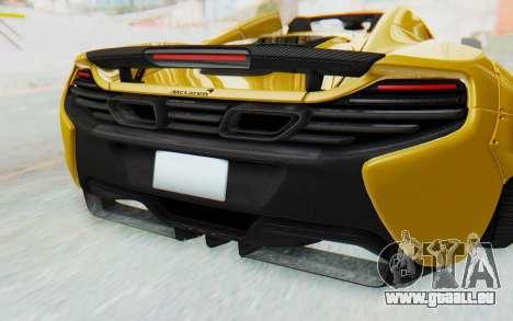 McLaren 650S Spyder ZenWorks pour GTA San Andreas vue de dessus