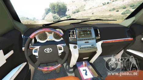 GTA 5 Toyota Land Cruiser Prado 2012 hinten rechts