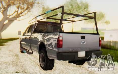 Ford F-250 XL 2002 pour GTA San Andreas laissé vue
