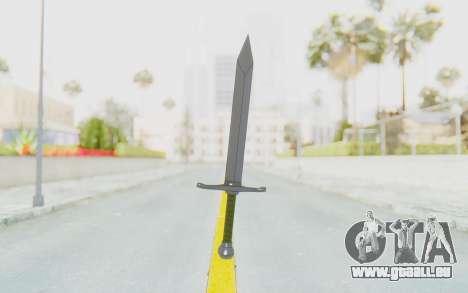 Trunks Del Futuro Katana pour GTA San Andreas deuxième écran