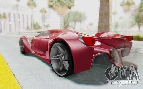 Ferrari F80 Concept für GTA San Andreas linke Ansicht