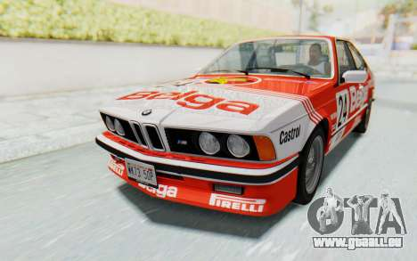 BMW M635 CSi (E24) 1984 IVF PJ2 für GTA San Andreas Räder