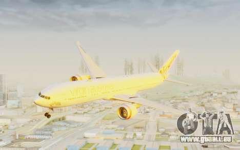 Boeing 777-300ER Virgin Australia v2 pour GTA San Andreas sur la vue arrière gauche