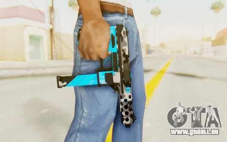 Tec-9 Neural Blue für GTA San Andreas dritten Screenshot
