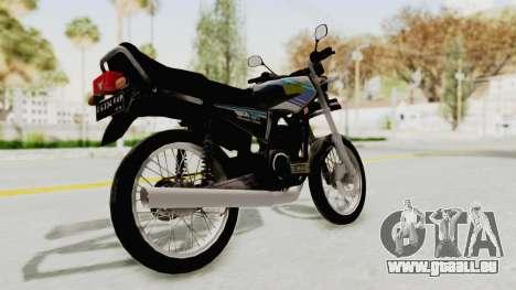 Yamaha RX King 135 1993 für GTA San Andreas zurück linke Ansicht