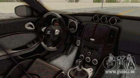 Nissan 370Z Nismo Z34 pour GTA San Andreas vue intérieure