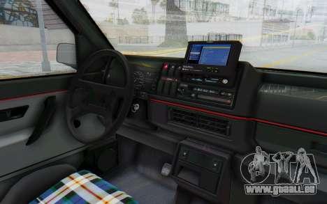 Volkswagen Golf Mk2 Lemon pour GTA San Andreas vue intérieure