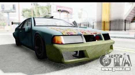 Fortune Korc pour GTA San Andreas sur la vue arrière gauche
