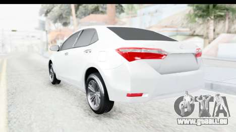 Toyota Corolla 2015 für GTA San Andreas linke Ansicht