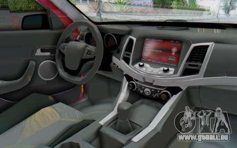 Chevrolet Super Sport 2014 pour GTA San Andreas vue intérieure