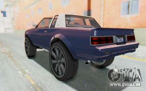 GTA 5 Willard Faction Custom Donk v3 IVF für GTA San Andreas linke Ansicht