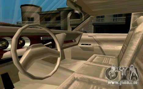 Tahoma Limousine v2.0 (HD) pour GTA San Andreas vue arrière