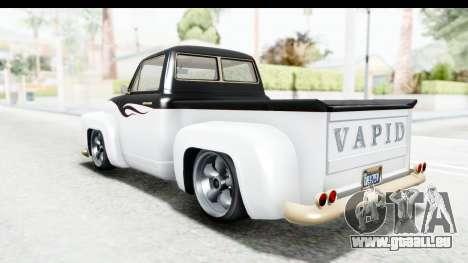 GTA 5 Vapid Slamvan Custom pour GTA San Andreas salon