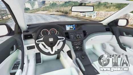 GTA 5 Honda Accord 2010 arrière droit vue de côté