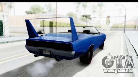 Dodge Charger Daytona 1969 Cabrio pour GTA San Andreas laissé vue