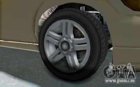 GTA 5 Vapid Minivan IVF für GTA San Andreas Rückansicht