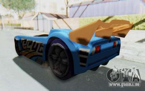 Hot Wheels AcceleRacers 1 für GTA San Andreas zurück linke Ansicht