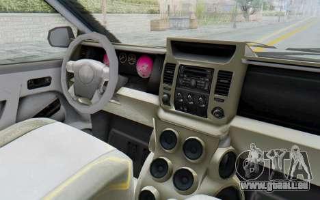 GTA 5 Vapid Minivan Custom without Hydro IVF pour GTA San Andreas vue intérieure