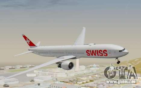 Boeing 777-300ER Swiss Global Air Lines pour GTA San Andreas sur la vue arrière gauche
