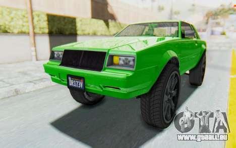 GTA 5 Willard Faction Custom Donk v3 pour GTA San Andreas sur la vue arrière gauche