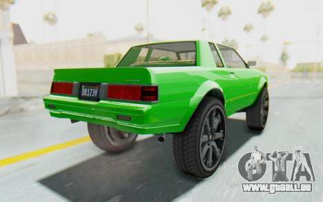 GTA 5 Willard Faction Custom Donk v3 pour GTA San Andreas vue de droite