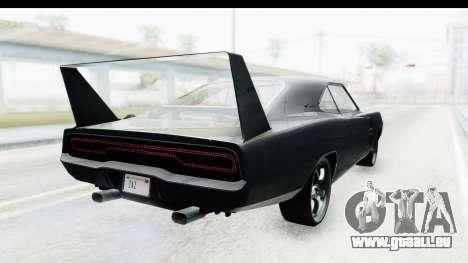 Dodge Charger Daytona F&F pour GTA San Andreas laissé vue
