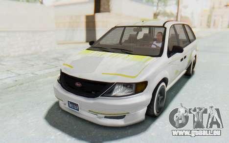 GTA 5 Vapid Minivan Custom pour GTA San Andreas vue de dessous